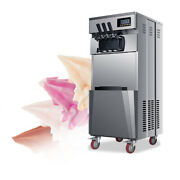 20l/h 1850w Stand Commercial Three Flavors Ice Cream Machine Automatic