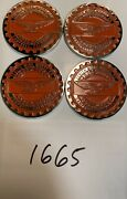 Zenith Wire Wheels Chips Emblems Campbell Orange 1665 Chrome Size 2.25andrdquo