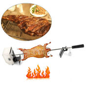 Universal Electric Bbq Rotisserie Kit Outdoor Large Grill Spit Roaster Rod 4w Us
