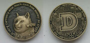 Dogecoin Doge Wow Antiqued Crypto Bitcoin Challenge Coin Round Token Limited