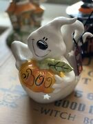 Blue Sky Clayworks Halloween Friendly Ghost Heather Goldminc Candle House Nwt
