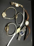 Assorted Lot Of 7 Vintage Womens Wrist Watches Elginandtimex-2392