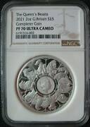 Great Britain Uk 5 Pounds 2021 Silver 2oz Coin Queenand039s Beasts Completer Ngc Pf70