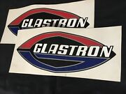 Pair Of Reproduction Glastron Football Decals For Vintage Boat