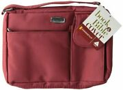 Microfiber Red With Exterior Pockets, Lg Bible Cover By Zondervan Mint