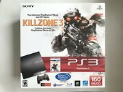 Ps3 Sony Playstation 3 - 160gb Console Cech-2501a Killzone 3 Bundle Sealed New
