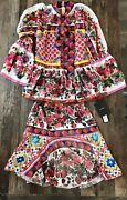 Dolce And Gabbana Shirt And Top Set - Beautiful - Skirt 38 And Blouse 40