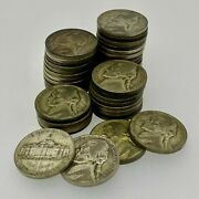 Roll Of 40 1942-1945 Silver War Nickels - Free Shipping Usa