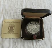 Afghanistan 1978 Snow Leopard Silver Proof 250 Afghanis - Boxed/coa
