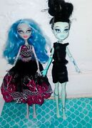 Monster High Dolls. Lot Of 2. Frankie Stein And Ghoulia Yelps. 2013 Mattel