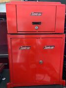 Snap On Snapon Snap-on Small Red Jewery Sample Box. Top Chest And Bottom Cabinet