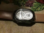 Estate Philip Stern Signature 3 Atm Dual Zone Swiss Watch 2-cic Brown/tan Band