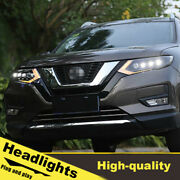 2017-2019 Led Turn Signal Dynamic Headlights Assembly For Nissan Rogue One Set.