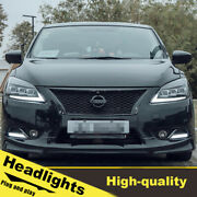 2012-2015 Led Turn Signal Dynamic Headlights Assembly For Nissan Sentra One Set.