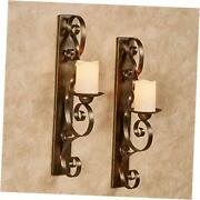 Stetson Wall Sconces - Traditional Candle Holder For Bedroom Pair Aged Gold
