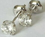 Special Sparkling 18ct White Gold 1ct Diamond D Colour Stud Earrings Screw Back