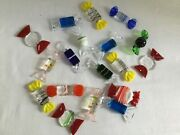 Lot 18 Pieces Colorful Art Glass Assorted Glass Faux Fake Wrapped Candy Holiday