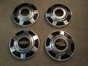 1977-1987 Chevrolet 3/4 Ton Pickup Truck 4x4 Dog Dish Hubcaps 12 Early Takeoffs