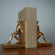 Two Piece Art Resin Naked Man Statue Crafts Bookcase Wine Cabinet Decoration