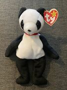 Ty Beanie Baby Fortune The Panda Bear December 6, 1997 Mwmt Rare See Tags
