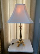 Vintage Mcm Frederick Cooper Chicago Brass Table Lamp Double Bulb 4 Foot