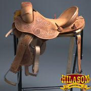 C-l-15 15 Hilason Classic Series Hand-made Rodeo Bronc American Leather Saddle