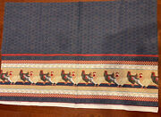 Vintage 1984 Daisy Kingdom Fabric 2.5 Yards Rooster Chicken Print With Hearts
