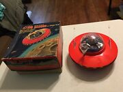 Vintage Ko Cragstan Flying Saucer Tin Toy Battery Operated In Box Japan Rare