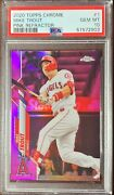 2020 Topps Chrome Baseball Mike Trout Pink Refractor Psa 10 Gem Mint Angels