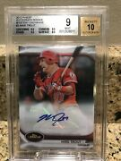 2012 Finest Mystery Exchange Mike Trout Rookie Rc Auto /100 Bgs 9 Mint Auto 10