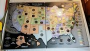 State Series Quarters 1999-2009 Collectorand039s Map Album W/ Full 56 Coin Set Inside
