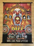 Kiss Rock And Roll Poster Scroll Psycho Circus Hard Loud Proud And Psycho 31andrdquox42andrdquo
