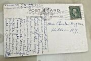 Antique Postcard With George Washington 1 Cent Stamp - Postmarked 1923