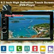 Double Din 6.2 Inch In Dash Car Stereo Radio Cd Dvd Lcd Player Bluetooth Mp3+cam