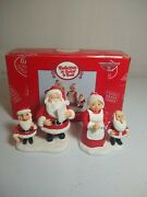 2005 Dept 56 Santa Claus Is Cominand039 To Town Figurines Santa Mrs Claus And 2 Elves