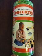 Vintage Classic Tinkertoy Construction Set Awesome Vehicles 103 Pieces W/ Wheels
