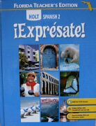 Holt Spanish 2 Expresate Florida Teacher's Edition By Nancy Humbach - Hardcover
