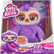 Pets Alive Fifi The Flossing Sloth Battery Powered Robotic Toy By Zuru