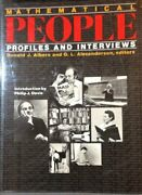 Mathematical People Profiles And Interviews By D. Albers And G L Alexanderson