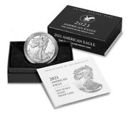 🔥2021 W American 1 Oz Silver Eagle Proof Type 2 Coin - In Hand Ready To Ship
