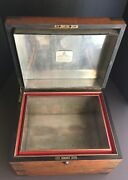 Large Vintage Benson And Hedges Cigar Tobacco Humidor With Bramah Lock