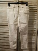 Chicos So Slimming Womens Jeans Size 00p 2p White Girlfriend Slim Leg Ankle