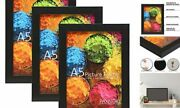 Set Of A5 Picture Frames Display Photos Size 5.8 X 8.inch - Plexiglass 3 Black