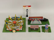 Lot Of Rare Ho Scale Assembled Carnival Fair Rides Attractions Octopus Ride+
