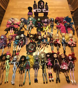 Monster High Doll Lot Everafter High Dolls 30 Dolls Clothes Accessories Etc.