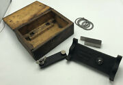 Vintage Kr Wilson 4610-p Ford Pinion Depth Gauge With Wood Case