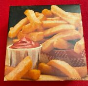 Vintage Mini Jigsaw Puzzle Side Order French Fries 70 Pieces 7x7 Springbok