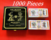 1000 Pcs/lot Chinese 102703 Dragon And Phoenix Paper Banknotes/with Number Box