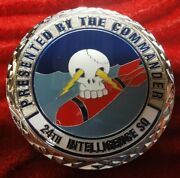 Challenge Coin 24th Intelligence Squadron 2 Inches