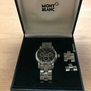 Menand039s Watch 7018 Automatic Day-date Gmt Black Dial Boxed
